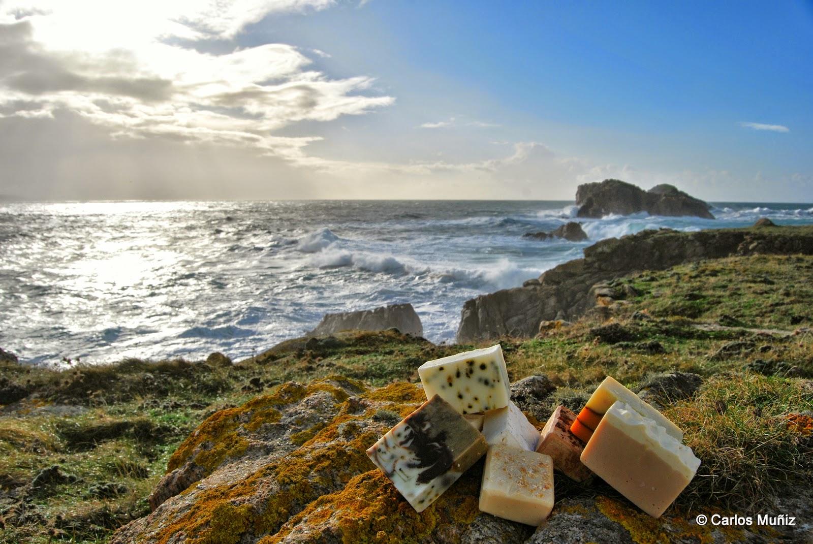 Jabones artesanos, mar, Islas Gabeiras (Doniños)