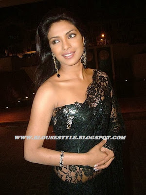 BOLLYWOOD LACE BLACK SAREE