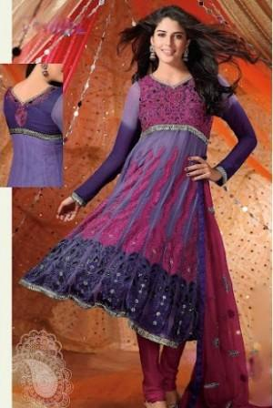 Georgette-Anarkali-Churidar-Suit