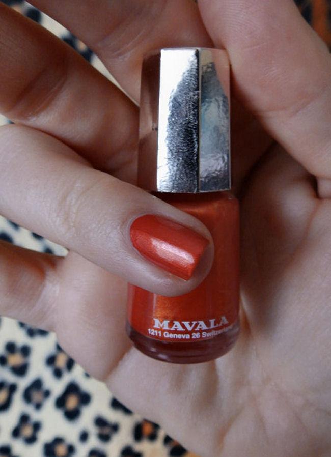 uk style and fashion blog mavala techni-color collection swatches orange fusion
