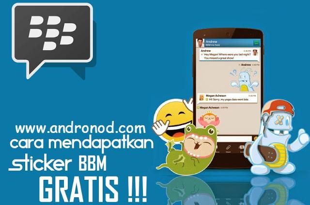 Cara Terbaru Mendapatkan Free Sticker di BBM Android v2.9 up