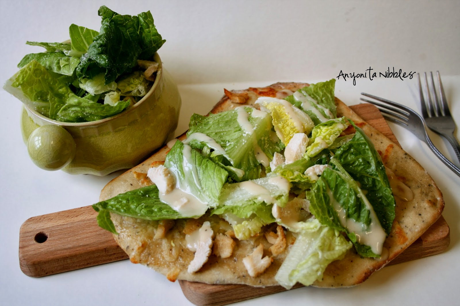 Easy chicken caesar salad pizza | Anyonita Nibbles