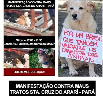manifestação maus tratos animais