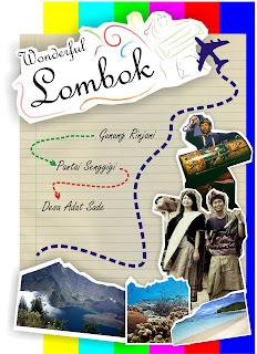 poster pariwisata, lombok, wonderful lombok, pariwisata lombok