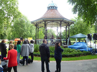 Myatts Fields Park bandstand on vassall view