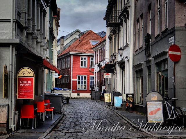 Bergen Norway by Monika Mukherjee