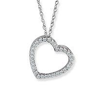 Diamond Heart Pendent