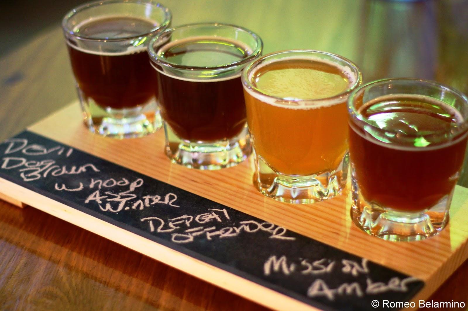 Prison Hill Brewing Company Beer Flight Yuma Arizona