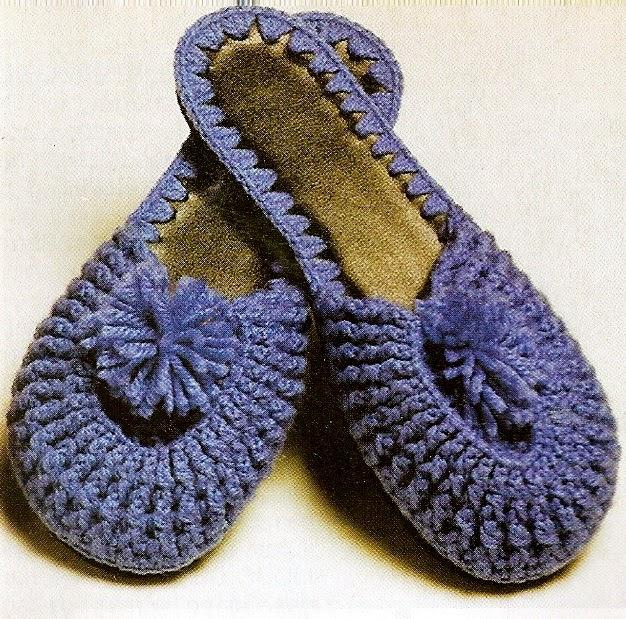 sapatos e chinelos em croche em croche com receita