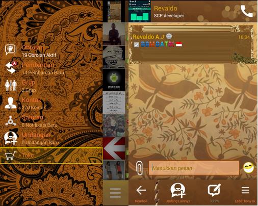 BBM Mod Theme Batik dan Wayang Apk Terbaru