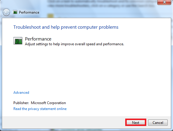 Troubleshooting Win-7 Performance