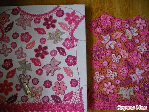 Pegando piezas Crochet Ruso