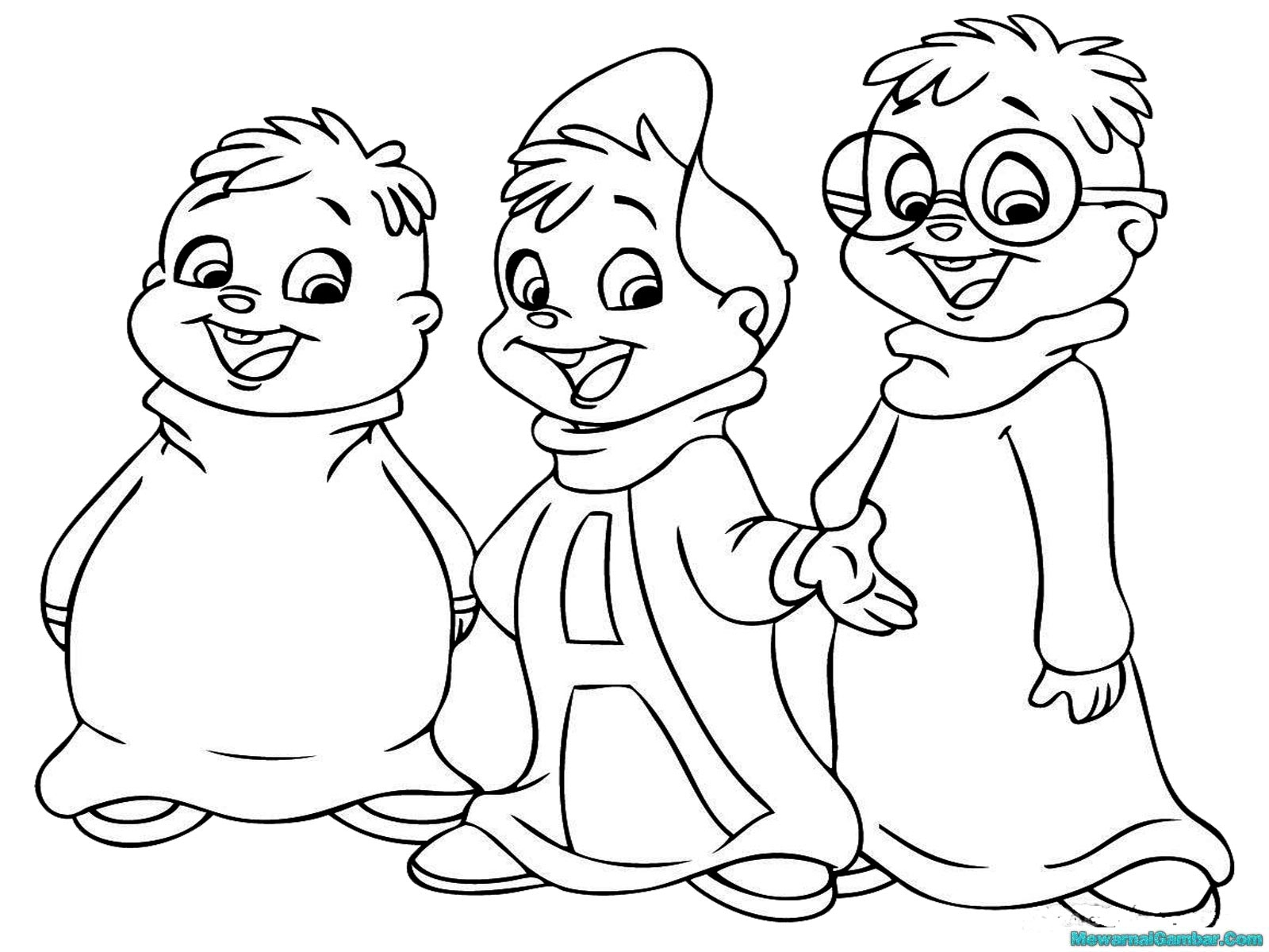 Printable Chipmunk Coloring Pages for Kids