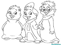 Mewarnai Gambar Kartun Alvin And The Chipmunks