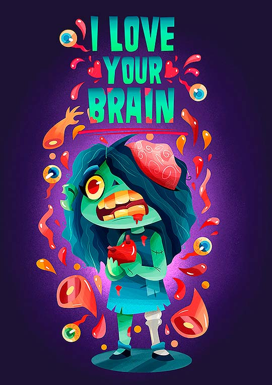 I love your brain! de Gaby Zermeño