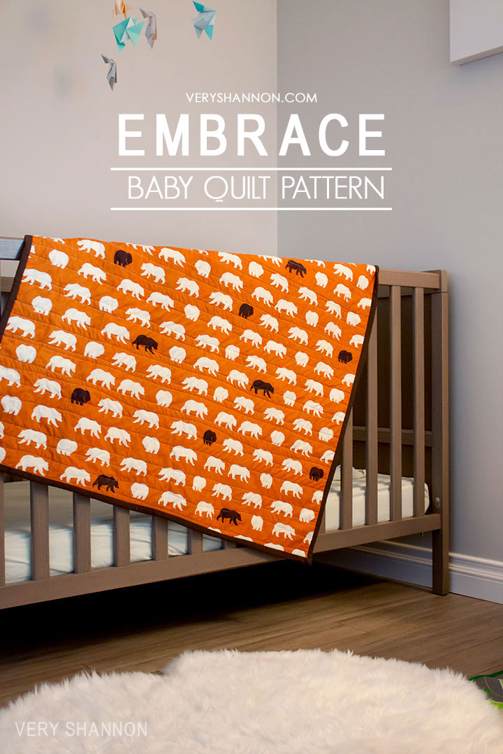 Free Embrace Baby Quilt Pattern on luvinthemommyhood.com