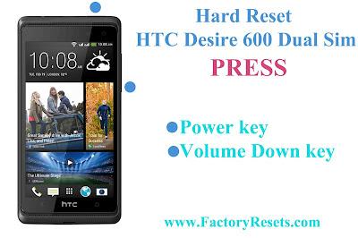 Hard Reset HTC Desire 600 Dual Sim