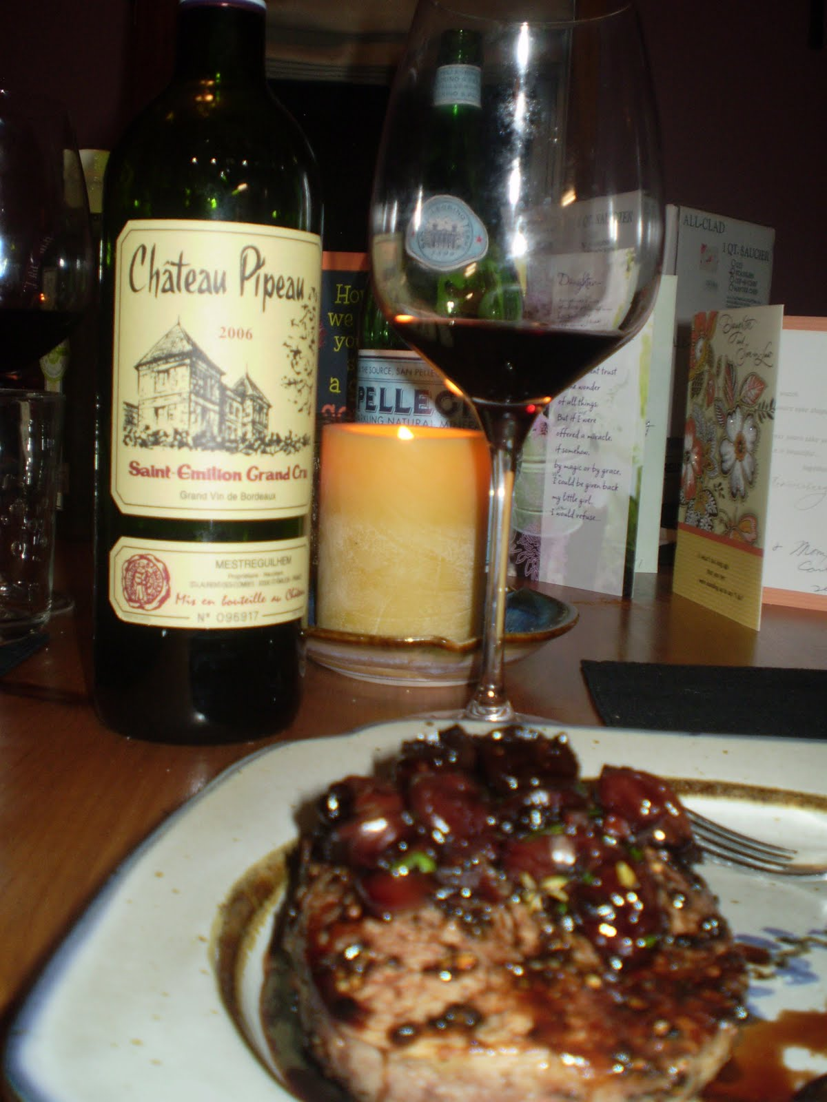 Together Cooking: Filet Mignon in a Port Cherry Reduction Sauce