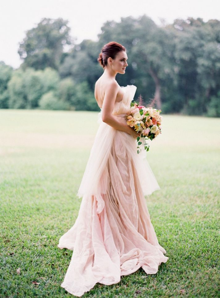 Rose Colored Wedding Dress