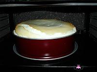 Tarta de queso enfriandose