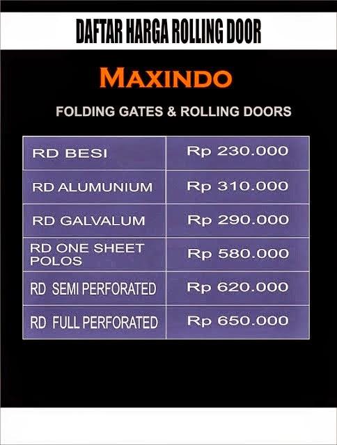 DAFTAR HARGA ROLLING DOOR DAN FOLDING GATE : HARGA FOLDING GATE PER ...