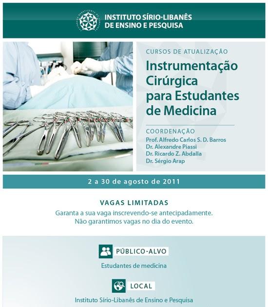 Curso de instrumentacao cirurgica rj