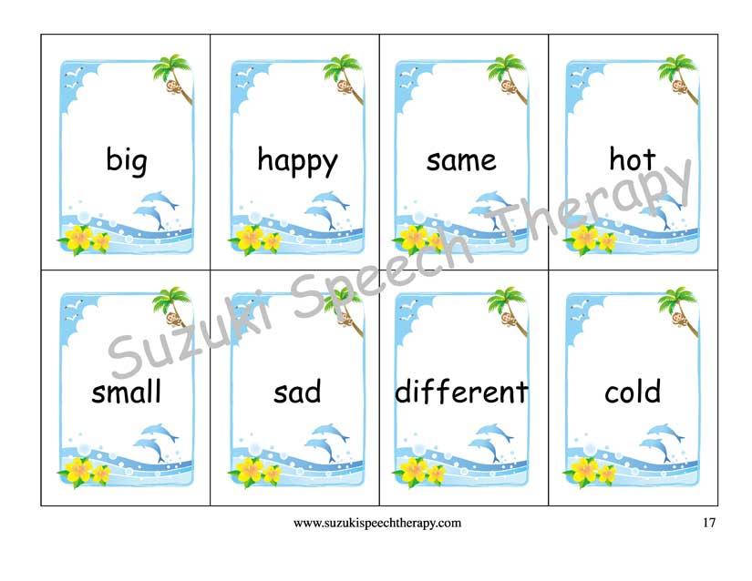 Suzuki Speech Therapy Blog Summer Vocabulary Packet