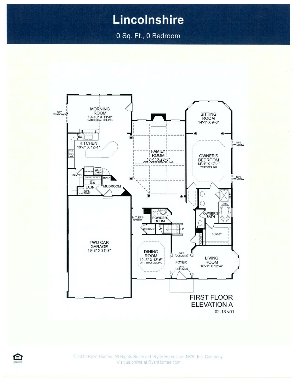 Our new home ryan homes lincolnshire plan floor plan w for Ran homes plans