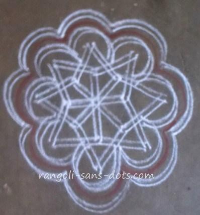 Rangoli 2 Lines Kolam Kolam By Sudha Balaji