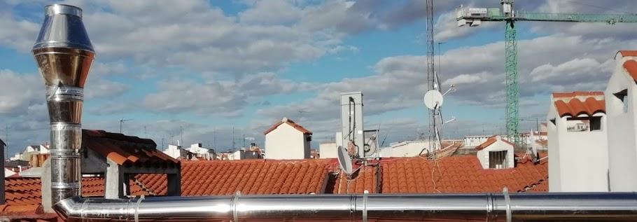 Reformas Chimeneas Madrid, reformar salida de humos e instalar tubos de chimenea metálicos en bares