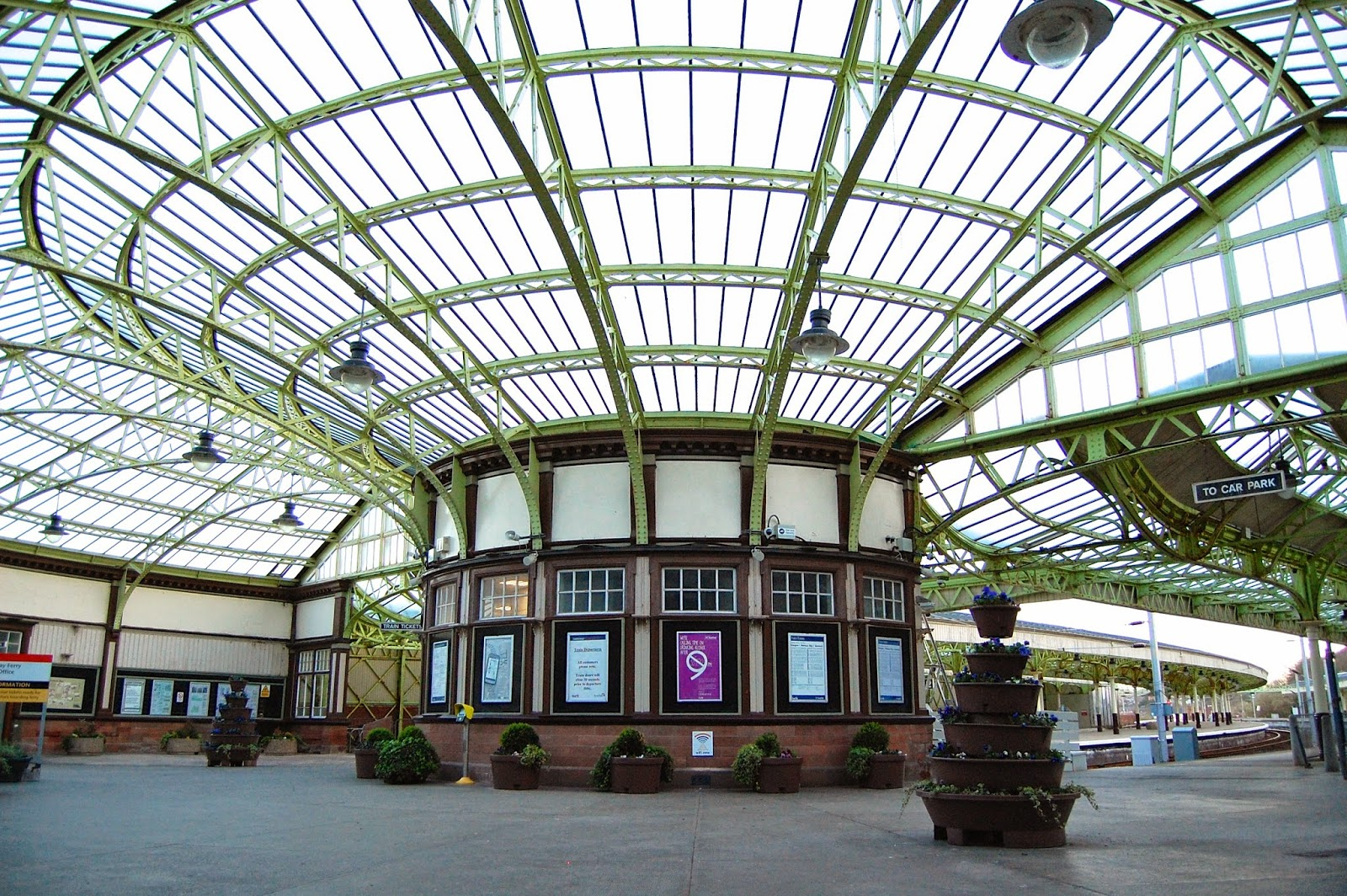 Wemyss Bay train station and ferry station, railway architecture in Scotland