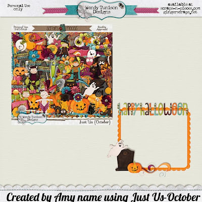 Just Us October by Wendy Tunison Designs and a FREEBIE