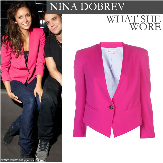 The hot pink blazer is a real statement piece Find this Pin and more on How to Wear PINK Blazer by Ellen Barter Sviatko. I am not huge on the pants but with the hot pink blazer, I thinkI could work it! I have slacks just like this, thought of them as safe and conservative, but with that hot pink blazer.