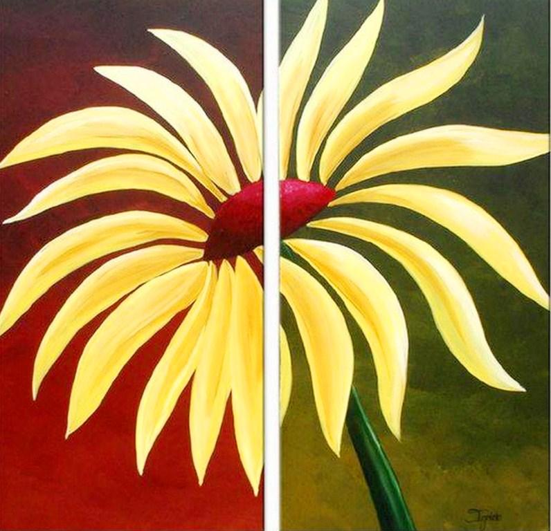 Pintura moderna y fotograf a art stica cuadros de flores - Cuadros faciles de hacer ...