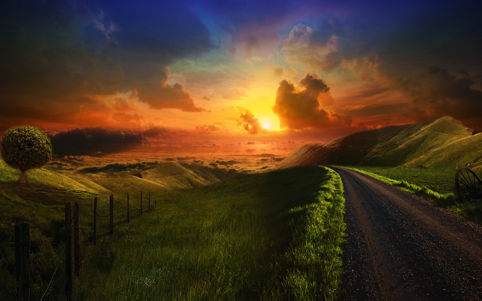 Road Sunset Wallpaper Wallpapers World: Octo...