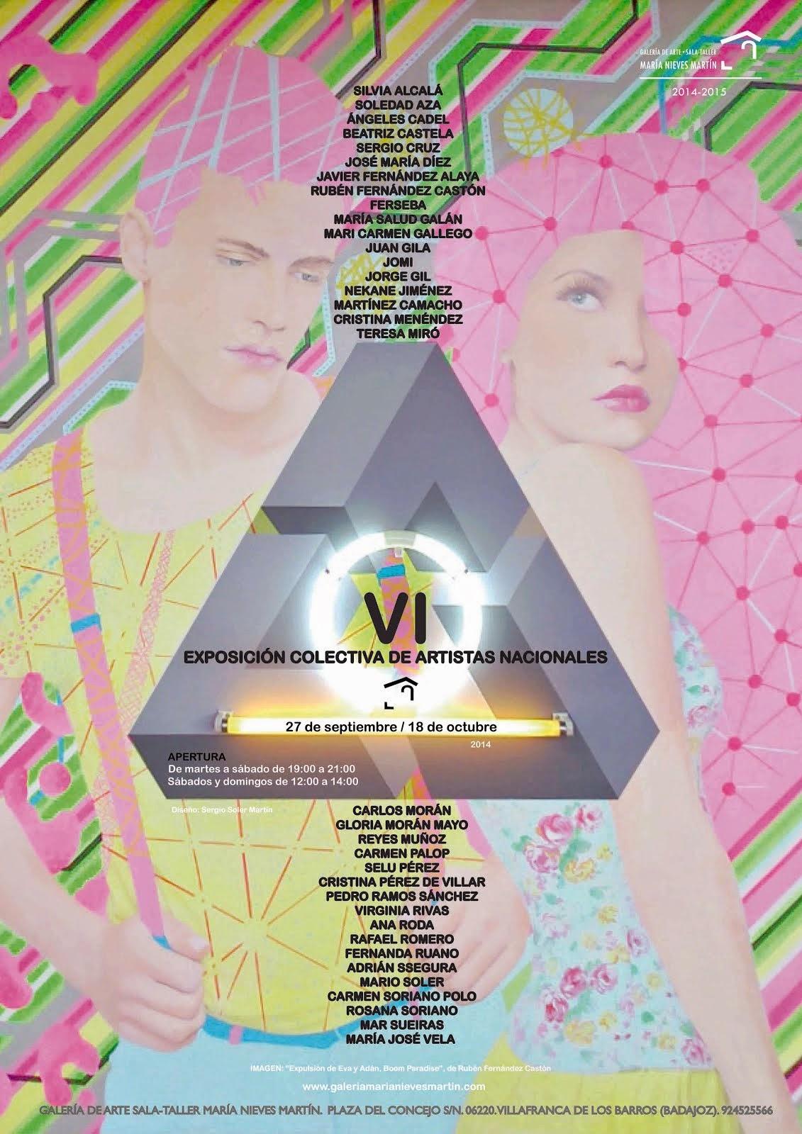 VI Exposición Colectiva de Artistas Nacionales Galería de Arte María Nieves Martín