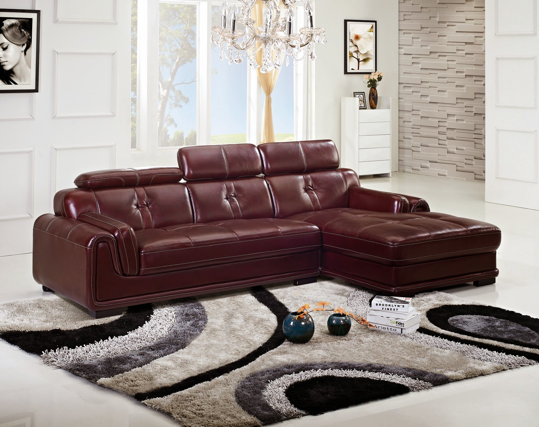 Latest Design Brown Leather Corner Sofa