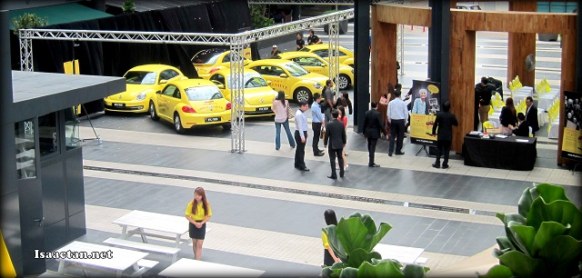 The launch event at Publika with a showcase of some of the cars involved with the convoy