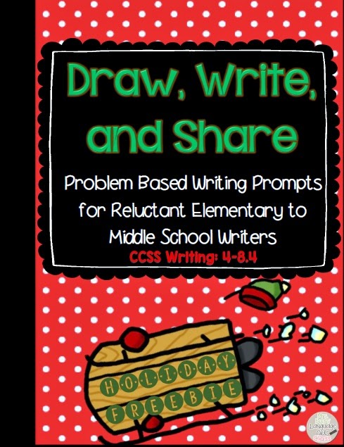 http://www.teacherspayteachers.com/Product/Holiday-Draw-Write-and-Share-Problem-Based-Writing-FREEBIE-1593998