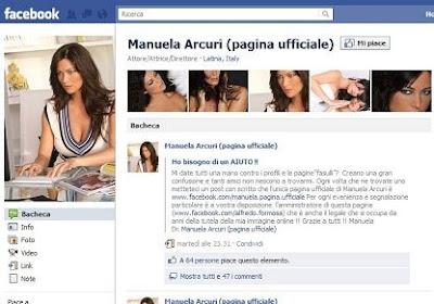 Manuela Arcuri facebook