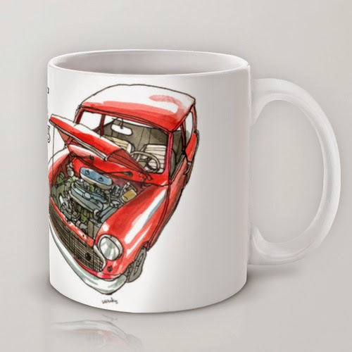 Classic Mini Cooper iPhone case T-shirt Mug Rug