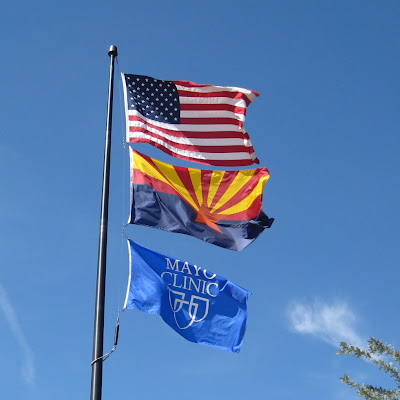 flags flying at the Mayo Clinic in Arizona