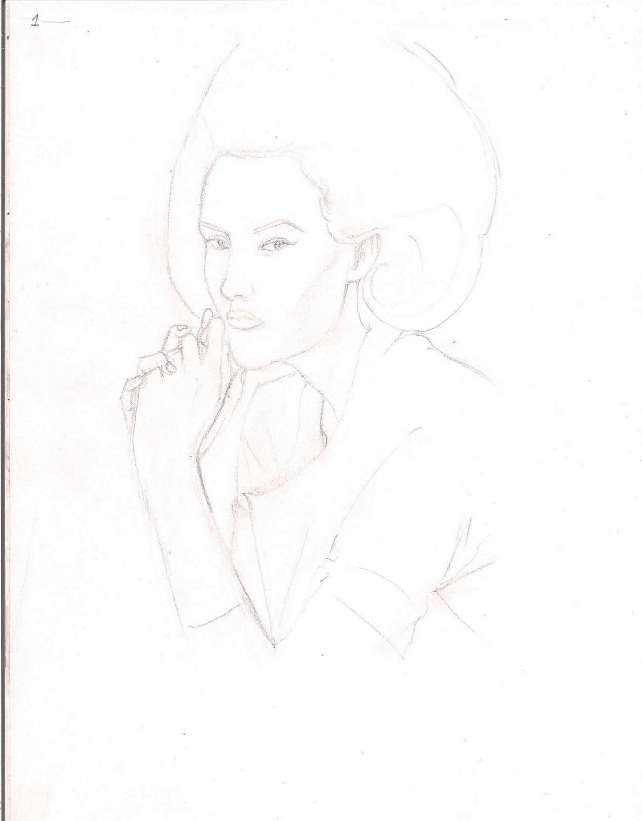 dibujo de una mujer paso a paso ( dibujarte)
