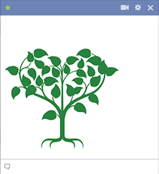 Heart-shaped tree FB icon