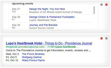 Events in SERP - Using Google's Data Highlighter