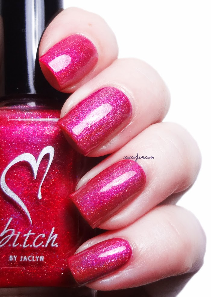 xoxoJen's swatch of b.i.t.c.h. by jaclyn Love Me or Hate Me