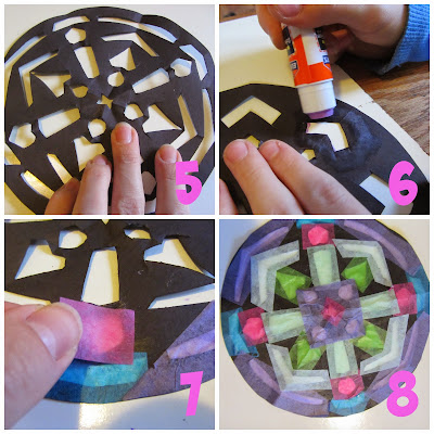 """Stained Glass"" Art Tutorial {The Unlikely Homeschool}"
