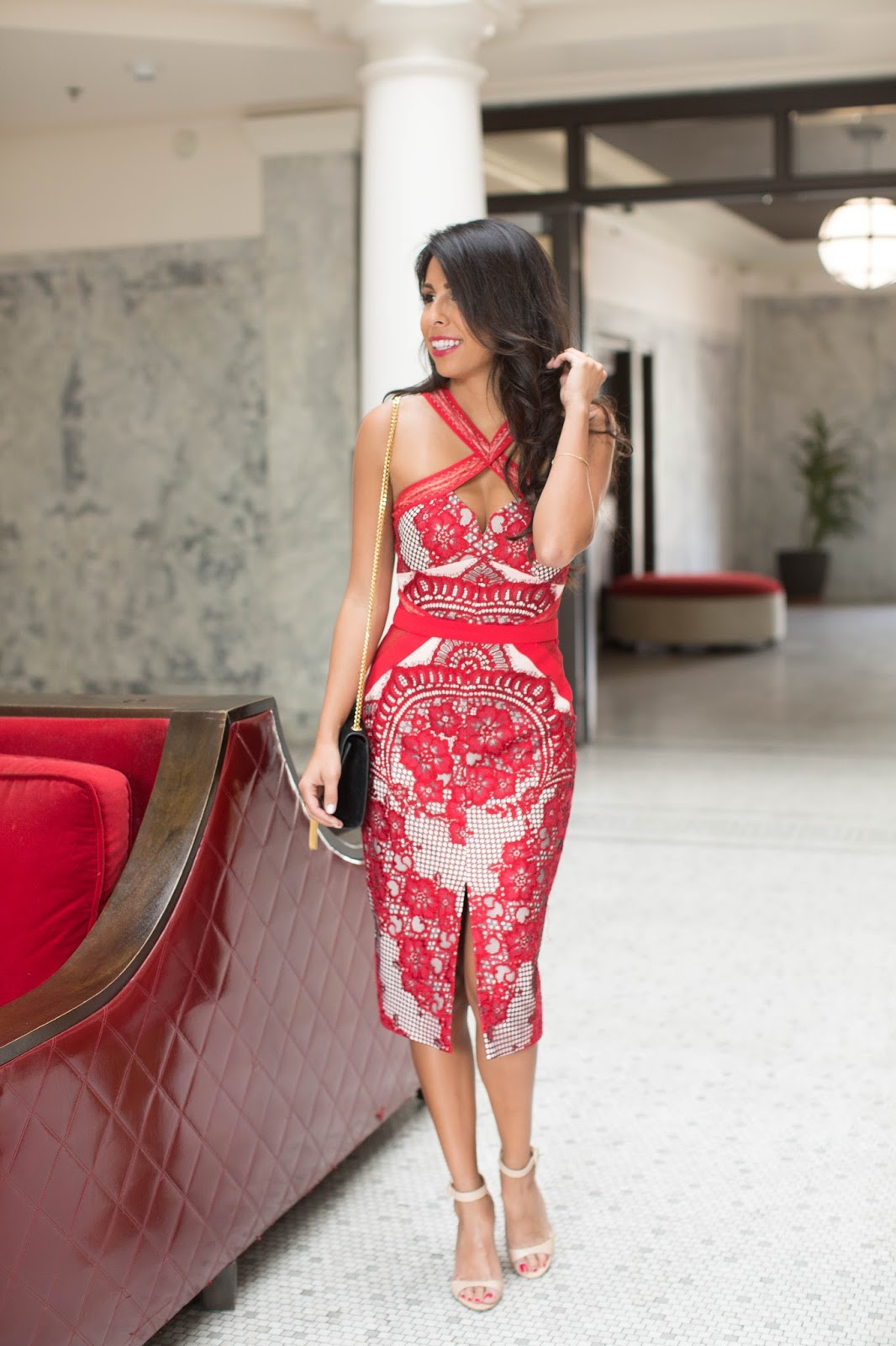 how to wear red lace dress, valentine's day outfit ideas, three floor dress