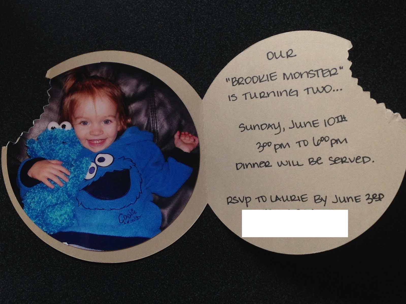 Kapers Cookies and Campfires Birthday Party Invitations Part One