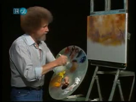 Боб росс рисуем осень